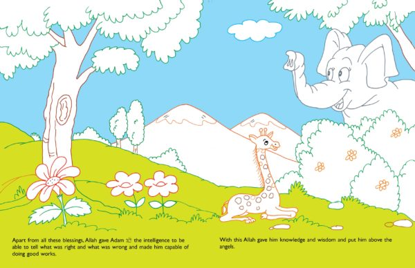 Stories from the Quran Big Colouring Book-Good Word Books-page- (4)
