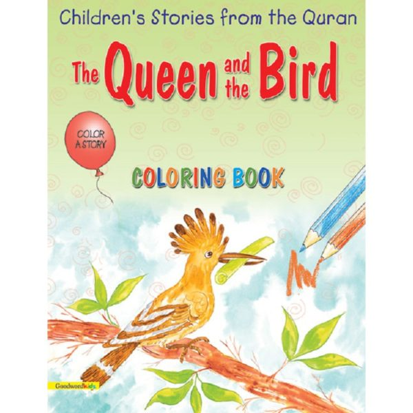 The Queen and the Bird(Colouring Book)-Good Word Books