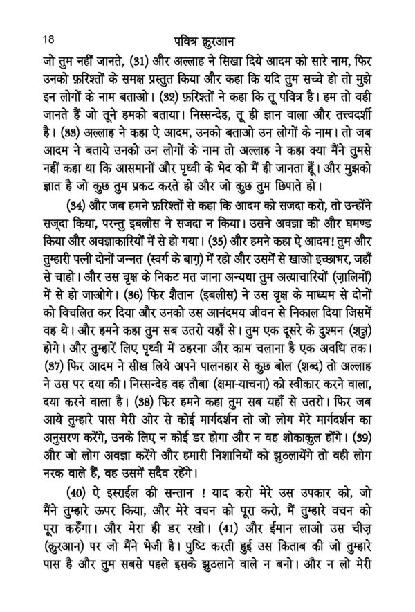 Pavitra Quran(Hindi)Medium Size-Good Word Books-page- (2)